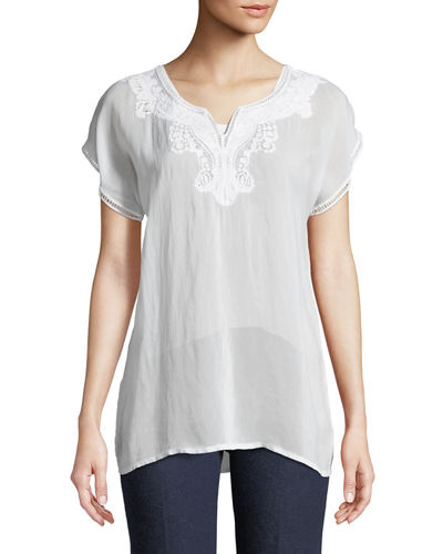 Navi Embroidered Top, Plus Size