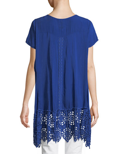 Kaylyn Long Eyelet Tunic