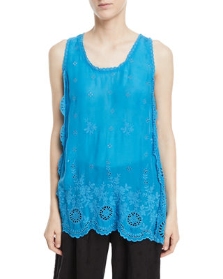 Johnny Was Kobi Eyelet Tunic Tank, Plus Size