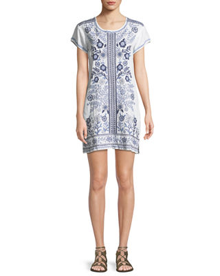 Johnny Was Lei Lei Linen Peasant Dress, Plus