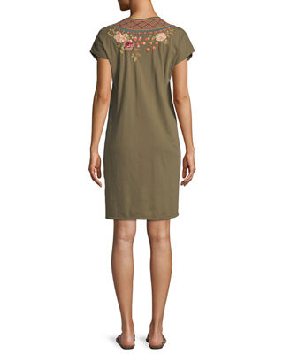 Image 3 of 4: Libbie V-Neck Tunic Dress