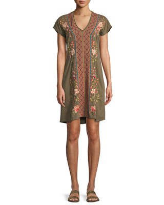 Image 1 of 4: Libbie V-Neck Tunic Dress