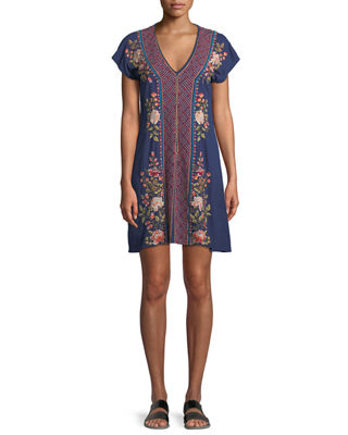 Libbie V-Neck Tunic Dress