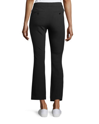 Image 2 of 4: Mid-Rise Bi-Stretch Kick-Flare Cropped Pants