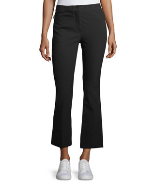 Image 1 of 4: Mid-Rise Bi-Stretch Kick-Flare Cropped Pants