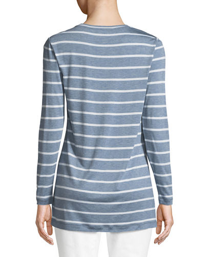 Striped Featherweight-Jersey Long-Sleeve T-Shirt