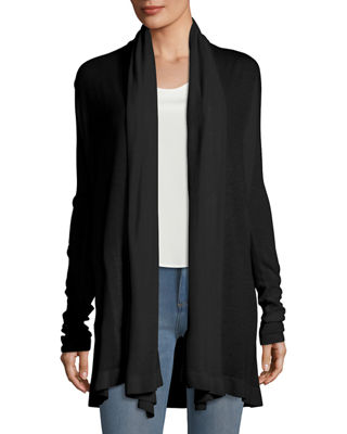 Image 1 of 3: Open-Front Featherweight Cashmere Cardigan