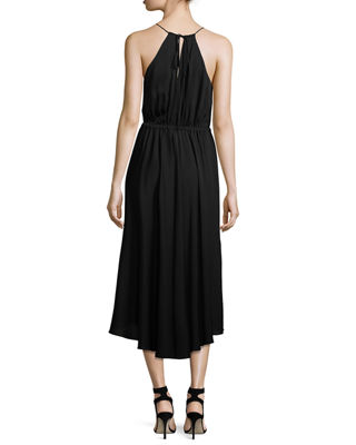 Casey Draped Stretch-Silk Dress