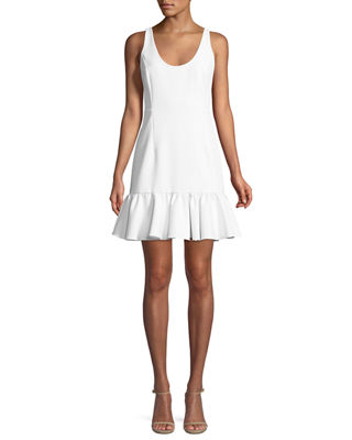 Milly Geneva Sleeveless Peplum Mini Dress