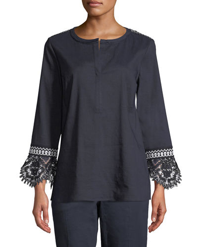 Arden Lace-Trim Blouse