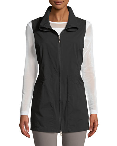 Deleney Long Zip-Front Vest
