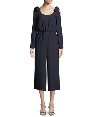 Club Monaco Ellizah Self-Tie Cold-Shoulder Jumpsuit