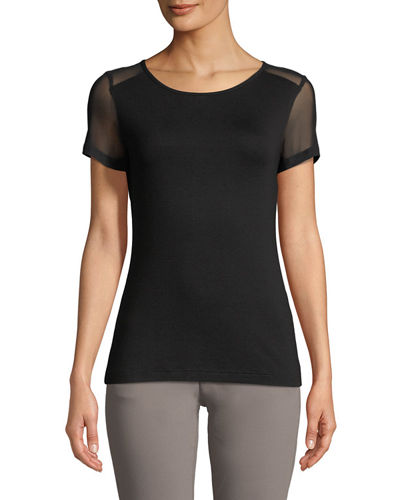 Anatomie Melissa Sheer-Panel Short-Sleeve T-Shirt and Matching