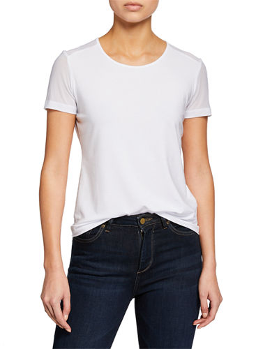Melissa Sheer-Panel Short-Sleeve T-Shirt