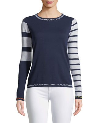 Lisa Todd Just My Stripe Sweater, Plus Size