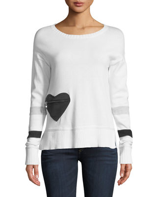 Lisa Todd Heartthrob Cotton-Cashmere Sweater
