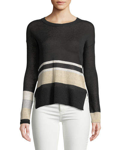 Lounger Linen Colorblock Sweater, Plus Size