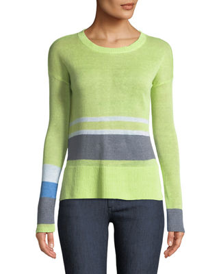 Lisa Todd Lounger Linen Colorblock Sweater, Plus Size