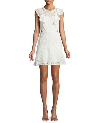 Bardot Kira Eyelet Frill Short Dress