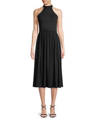 Beth Halter Cutout Midi Dress, Plus Size