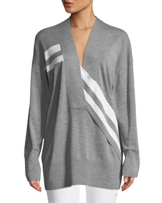 Rag & Bone Grace V-Neck Long-Sleeve Wool with