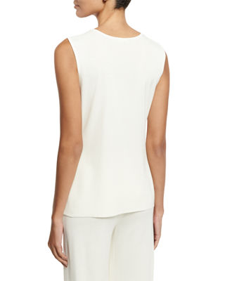 Image 2 of 2: Scoop-Neck Knit Tank, Petite