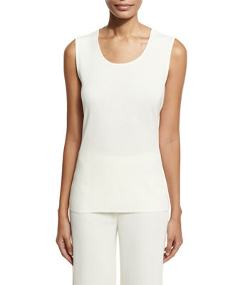 Image 1 of 2: Scoop-Neck Knit Tank, Petite