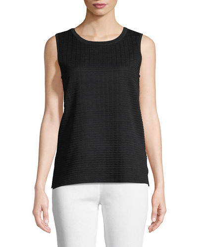Textured Scoop-Neck Tank, Plus Size