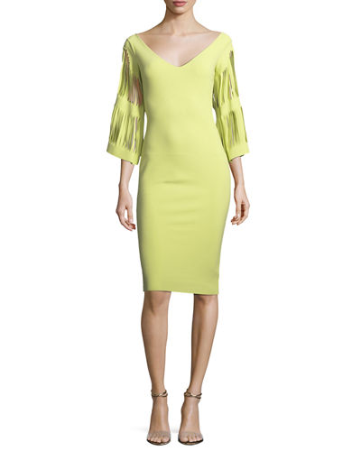 Hali V-Neck Cutout-Sleeve Dress