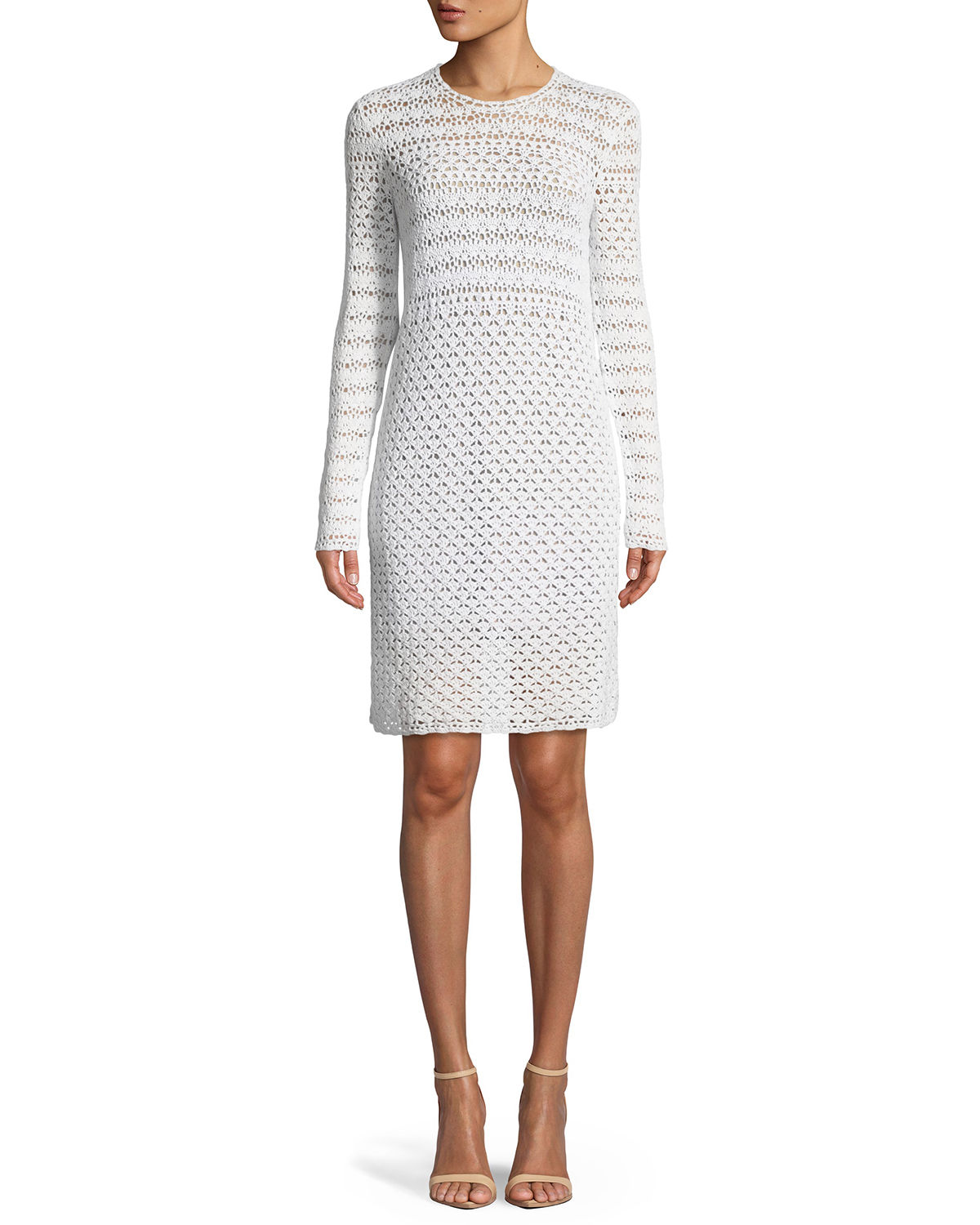 Crochet Knit Sweater Dress