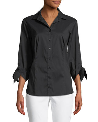 Finley Jackie Tie-Cuff Blouse