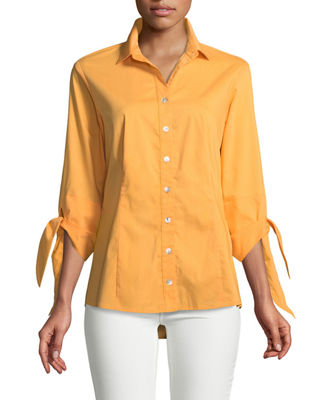 Image 1 of 2: Jackie Tie-Cuff Blouse