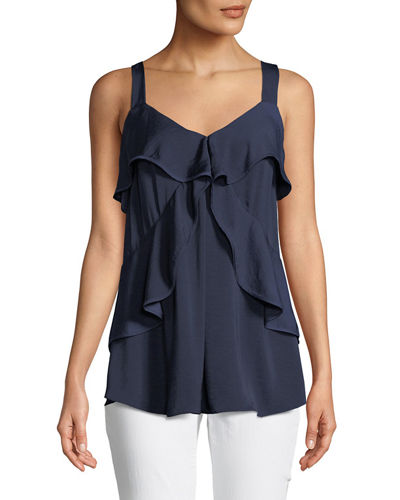 Layered-Tier Sleeveless Top