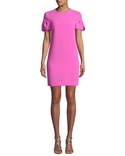 Jacinta Petal-Sleeve Mini Dress
