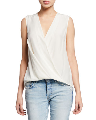 9cfce9d693142 Quick Look. Rag   Bone · Victor Sleeveless Wrap-Front Blouse
