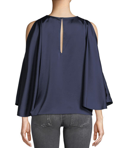 Tiffany Satin Cape Blouse