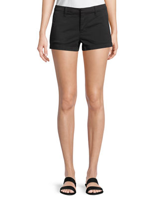 Clara Mid-rise Luxe Twill Shorts