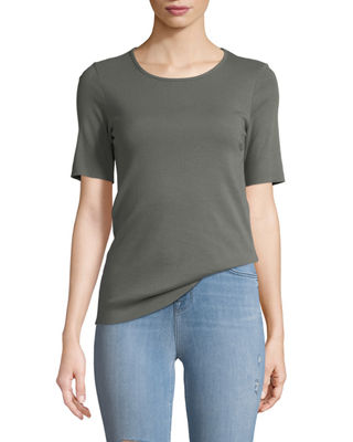 J Brand Crewneck Short-Sleeve Slim-Fit Tee