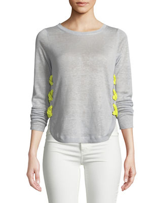 Lisa Todd Explorer Lace-Up Linen Sweater