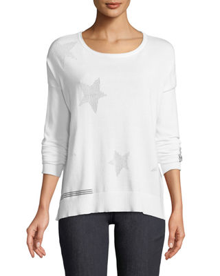 Lisa Todd Stargazer Sweater w/ Grosgrain Ribbon