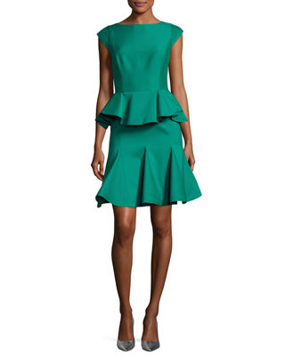 Capped Sleeve Cocktail Dress