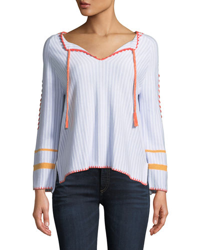 Escape Tie-Front Sweater, Plus Size