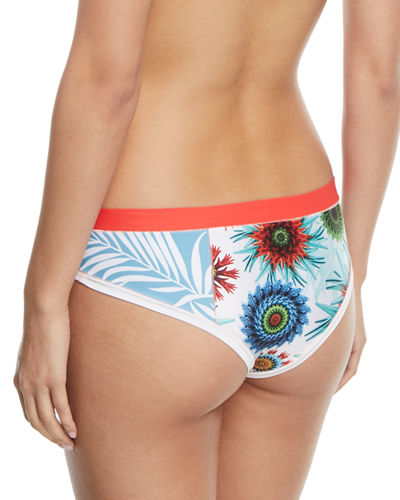 Brinkley Hipster Printed Swim Bottoms