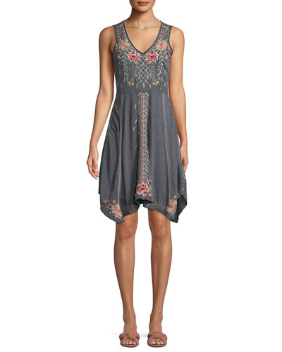 Johnny Was Katrina Embroidered Swing Dress