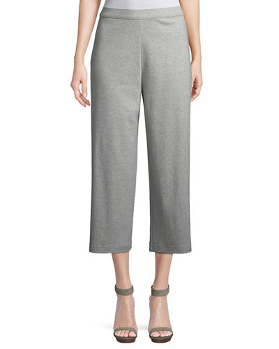 72e7bb8b528 Quick Look. Joan Vass · Cropped Cotton Interlock Wide-Leg Pants