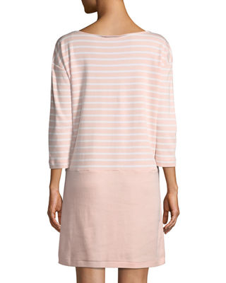 Image 3 of 3: Striped Interlock Dress w/ Zip Pockets, Petite