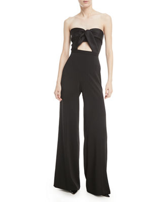 Jay Godfrey Twist-Front Sleeveless Jumpsuit