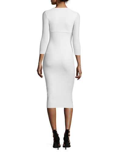Custom Collection: Serenity 3/4-Sleeve Body-Conscious Dress