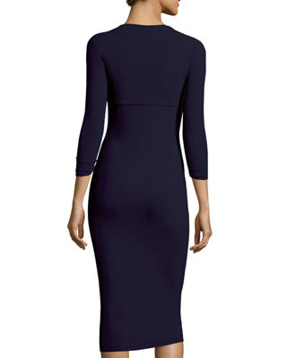 Image 2 of 2: Custom Collection: Serenity 3/4-Sleeve Body-Conscious Dress