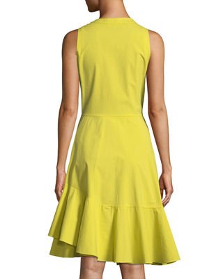 Image 2 of 2: Poplin Sleeveless Dress